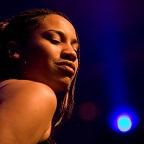 De foto van de lookalike en imitator van  Alicia Keys