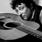 De foto van de lookalike en imitator van  Bob Dylan