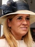 Een foto van de lookalike en imitator van  Koningin Maxima