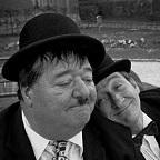 De foto van de lookalike en imitator van  Laurel and Hardy (76)