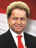 Een foto van de lookalike en imitator van Geert Wilders
