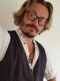 Een foto van de lookalike en imitator van Johnny Depp