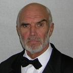 De foto van de lookalike en imitator van  Sean Connery